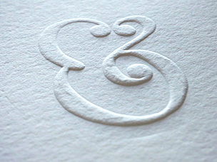 printing embossed ampersand